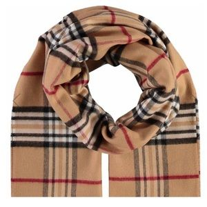 V. Fraas Burberry® print Cashmink® scarf